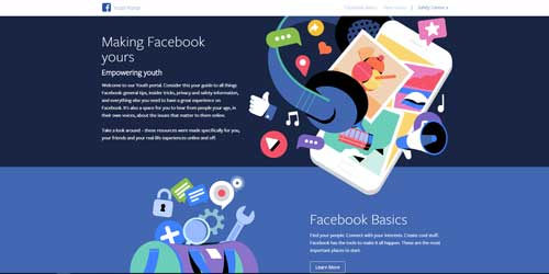 Facebook youth portal